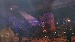 Первые кадры: двое человек погибли исемь пострадали при обрушении моста вХМАО