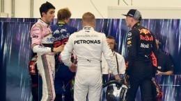 Стычка пилотов «Формулы-1» после финиша попала навидео