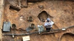 Археологи нашли череп мамонта складом нараскопках вПодмосковье