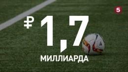 В2017 году российский футбол снова ушел вминус
