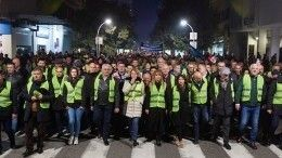 «Желтые жилеты» вышли наакцию протеста встолице Черногории