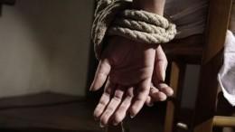 Похищение девушки вПодмосковье попало накамеры— видео