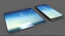 Названа примерная цена гибкого смартфона Samsung