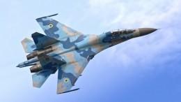 Украинский Су-27 разбился вовремя учений