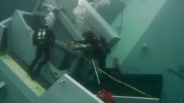 Появились первые видеокадры затонувшего фрегата ВМС Норвегии