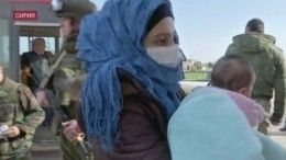 Сирийские беженцы возвращаются народину через гуманитарный коридор