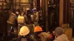 Эксклюзивные кадры работы горноспателей угорящей шахты вСоликамске
