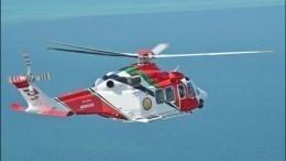 Появилось видео крушения вертолета соспасателями вОАЭ