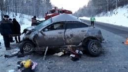 Фото: Четыре человека погибли при массовой аварии вЧелябинской области