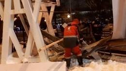 Число пострадавших при обрушении моста вПарке Горького возросло додесяти