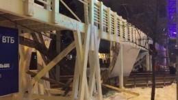 Стала известна причина обрушения моста вПарке Горького вМоскве