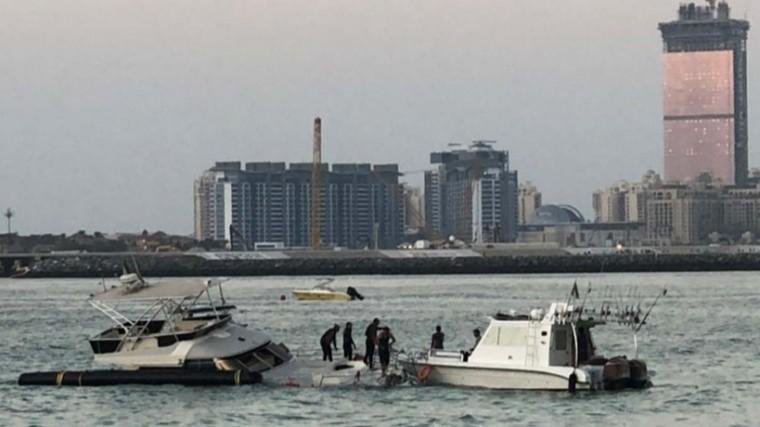 ВДубае затонула яхта сроссиянами за1,5 миллиона евро— видео