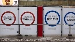 Эстонский политик раскрыла настоящий смысл скандальных плакатов вТаллине