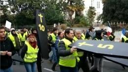 Парижская полиция задержала 40 человек наакции «желтых жилетов»— видео