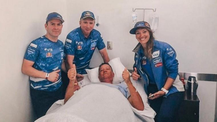 Члены команды «КамАЗ-мастер» навестили вбольнице болельщика изЮАР