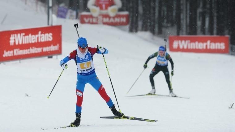 Российские биатлонисты выиграли эстафету наэтапе Кубка мира вГермании