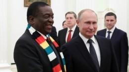 Владимир Путин назвал Зимбабве важным партнером для России вАфрике