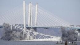 Эффектный снос моста вНью-Йорке сняли навидео