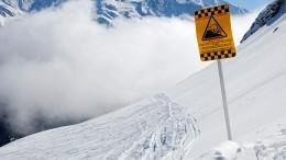 ВИндии снежная лавина накрыла десять человек— видео сместа событий