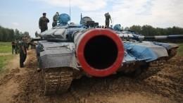 Российские танки Т-72 поучаствовали ввоенном параде вЛаосе