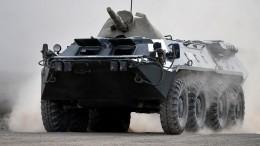 Российский БТР рухнул впропасть вАбхазии— есть погибшие ираненые