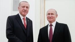 Путин назвал личной заслугой Эрдогана улучшение отношений между обеими странами