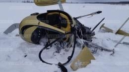Появились первые кадры сместа жесткой посадки вертолета вНижегородской области