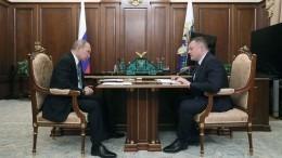 Видео: Владимир Путин провел встречу сгубернатором Тамбовской области
