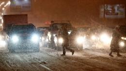 Транспортный коллапс вМоскве: дождь после снегопада привел кстрашному гололеду