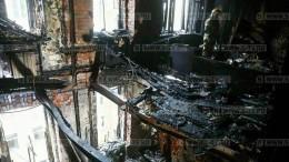 Пожар вдоме знаменитостей наНикитском— первые кадры изсгоревшей квартиры