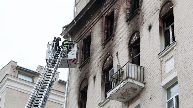 Среди пострадавших при пожаре наНикитском бульваре есть беременная женщина