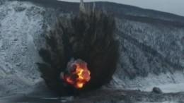 Видео: НаБурейском водохранилище взорвали 30 тонн тротила