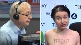 Британская экономистка пришла наBBC вобнаженном виде, чтобы обсудить Brexit