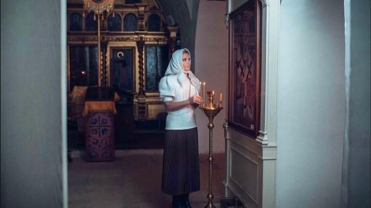 Дана Борисова в храме