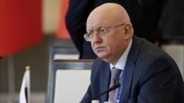 «Необращаем внимания»— Небензя обугрозе новых антироссийских санкций