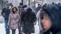 Такого снегопада вМоскве небыло 23 года