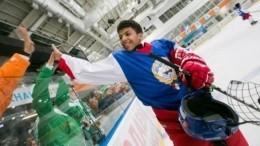 Сахалинцы устроили флешмоб вподдержку юных хоккеистов изКувейта