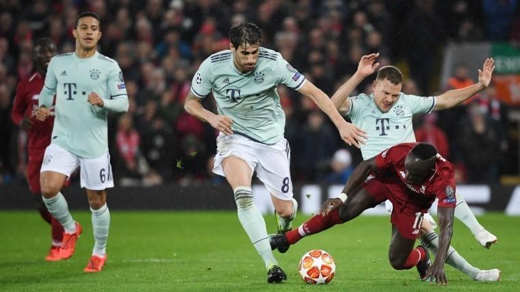 «Ливерпуль» и«Бавария» оформили ничью впервом матче 1/8 финала Лиги Чемпионов
