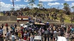 Гуайдо заявил, что грузовик сгумпомощью изБразилии пересек границу Венесуэлы