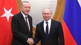 Владимир Путин поздравил Реджепа Тайипа Эрдогана с65-летием