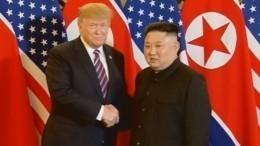 Видео: Ким Чен ЫниДональд Трамп начали второй день саммита вХаное