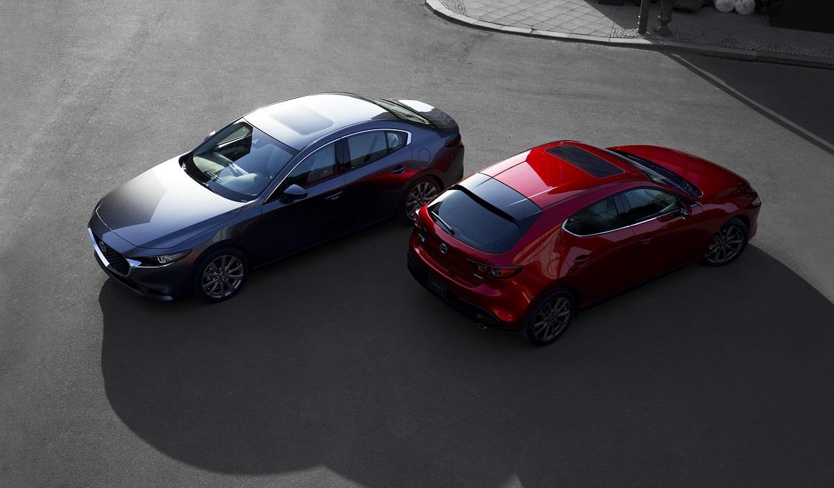 Mazda 3 вкузовах седан ихэтчбек