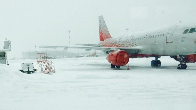 Пять самолетов немогут сесть в«Пулково» из-за метели