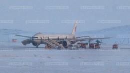 Кадры сместа экстренной посадки самолета Air China ваэропорту Анадыря