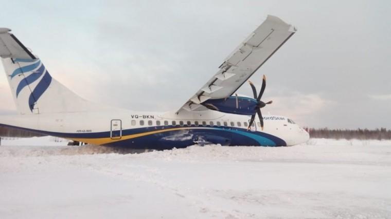 Фото: Самолет спассажирами выкатился запределы ВПП вКрасноярском крае