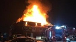 Пожар всамарском автосервисе увеличился до700 «квадратов»