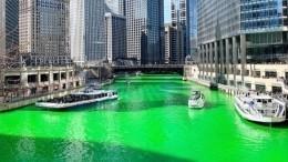 Зеленая река ияркие костюмы: Как вЧикаго отмечают день святого Патрика