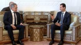 Видео: Шойгу вДамаске передал Асаду послание Путина