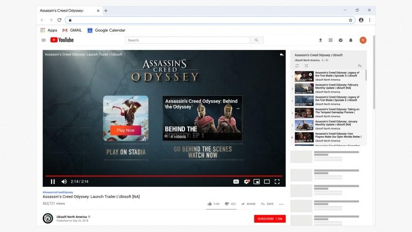 Как Stadia будет выглядеть на YouTube