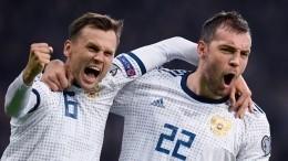 Сборная России сосчетом 4:0 разгромила команду Казахстана вотборе наЕвро—2020